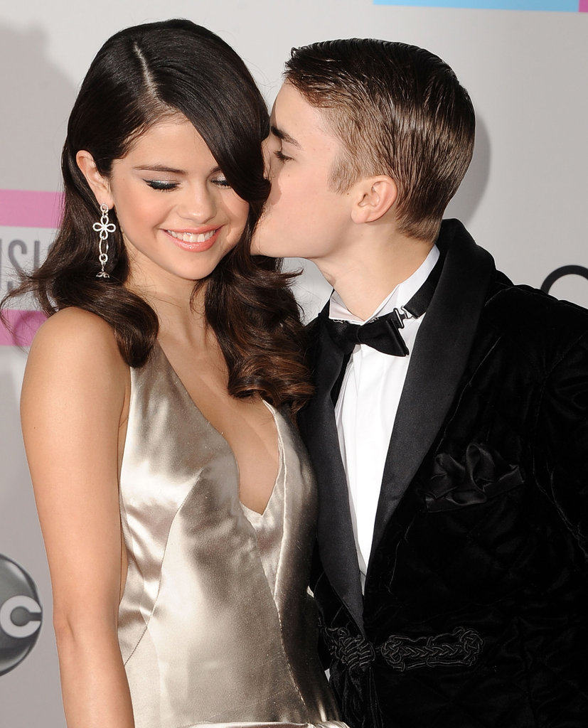 Justin Bieber gave his then-girlfriend Selena Gomez a kiss on the cheek in 2011.
