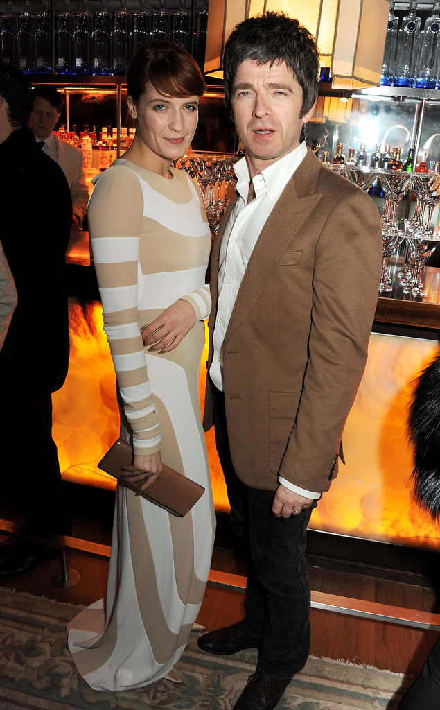 Florence Welch and Noel Gallagher attended the Kate Moss's book-launch afterparty.