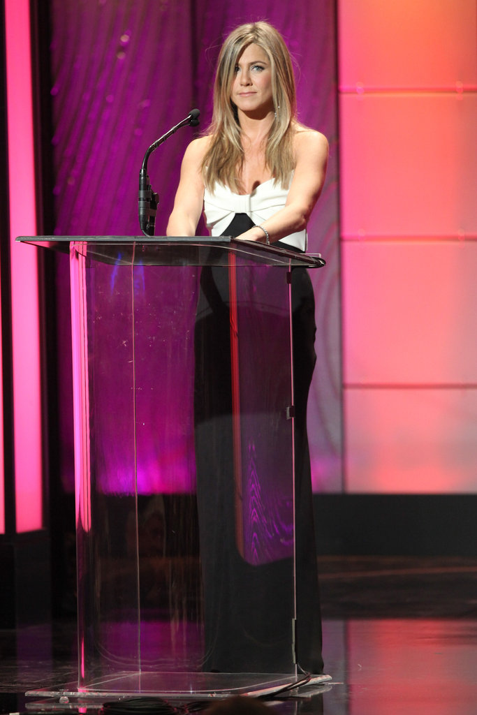 Jennifer Aniston appeared on stage at the awards.