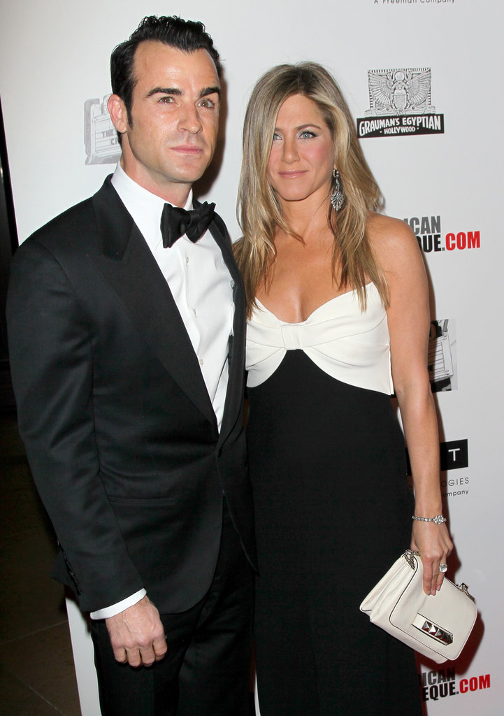 Jennifer Aniston and Justin Theroux stepped out on the red carpet together at the American Cinematheque Awards.