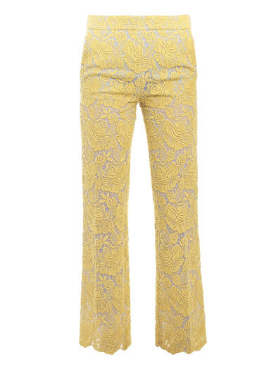 These yellow Stella McCartney Vandella Cropped Trousers ($1,595) would look amazing with a cropped mohair sweater and sleek ankle boots.