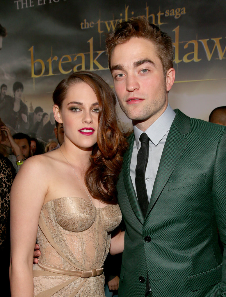 Kristen Stewart and Robert Pattinson wowed the crowd in green and gold as they hit the red carpet for the Breaking Dawn Part 2 premiere in LA on November 13.