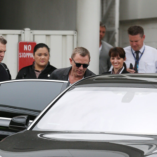 Daniel Craig Pictures Arriving in Sydney For Skyfall