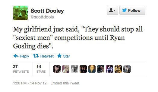 Your girlfriend is one smart lady, Scott Dooley.