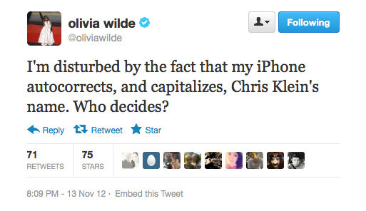 Maybe Chris has rigged the system, Olivia?