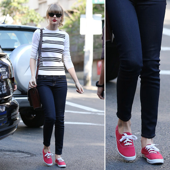 Steal her style: Taylor Swift's summer red-dy shoes