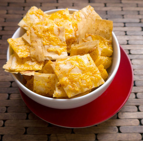 Cheddar Phyllo Crackers