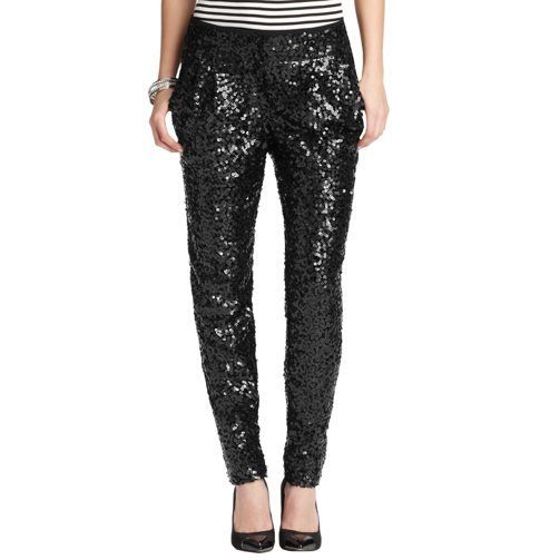 We love the tapered silhouette and budget-friendly price tag on these Loft Marisa Sequin Tapered Ankle Pants ($98).