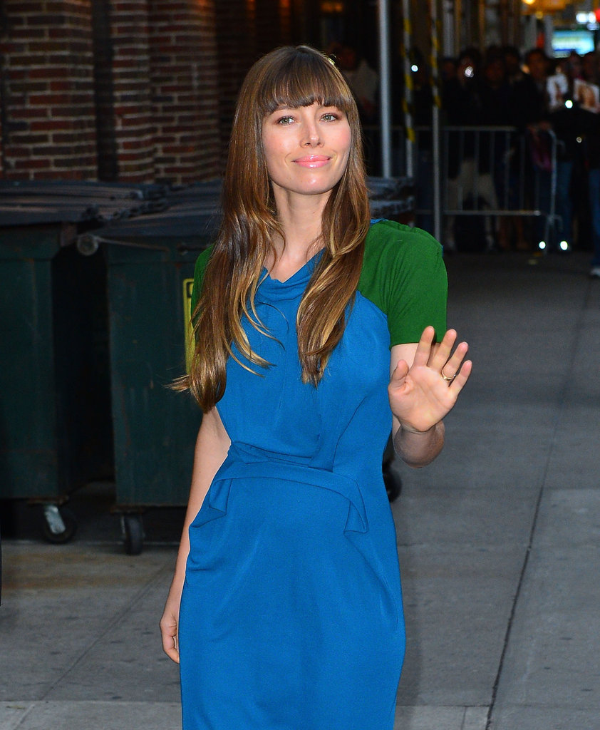 Jessica Biel Shares a Racy Story With David Letterman