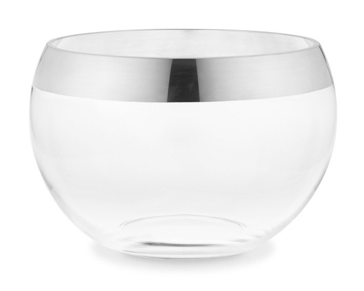 Silver-Rimmed Punch Bowl