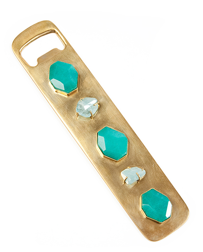 I own a ton of crappy bottle openers, most of which always seem to get lost in my kitchen drawers. Cross my heart, I will never misplace this incredibly awesome jeweled Kelly Wearstler bejeweled rendition ($425). — Chi Diem Chau associate editor