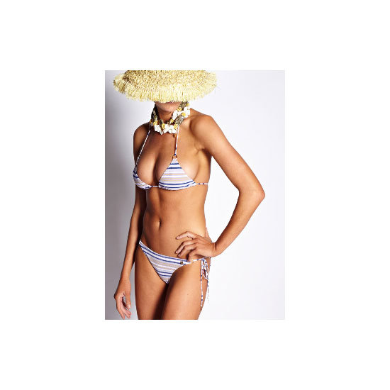 I follow a few simple rules when choosing swimwear — keep the silhouette fuss-free (bandeau or tri-tops only) and hipster briefs are my friend. — Marisa, publisher Bikini, $185, Anna & Boy