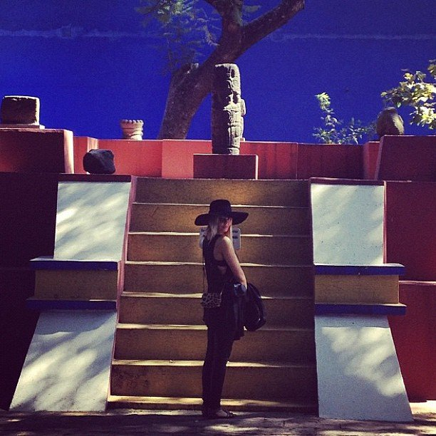 Lara Bingle took in the sights on her travels to Mexico City. Source: Instagram user mslbingle