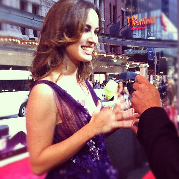 Stunning Bond girl Berenice Marlohe was so lovely when Jess met her at the Skyfall premiere in Sydney.