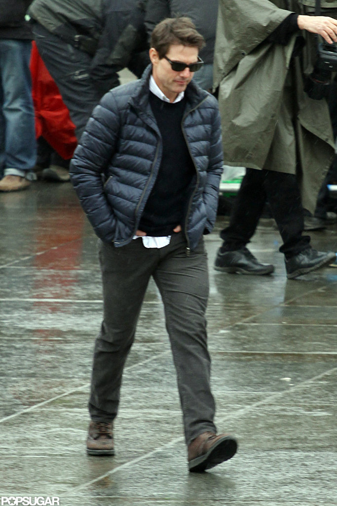 Tom Cruise walked onto the All You Need Is Kill set in London.