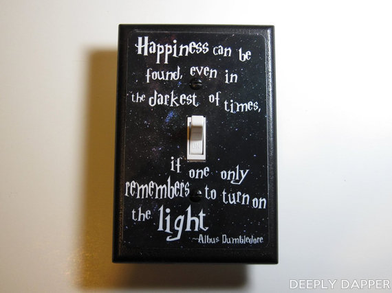 Harry Potter Dumbledore Quote Light-Switch Plate ($10)