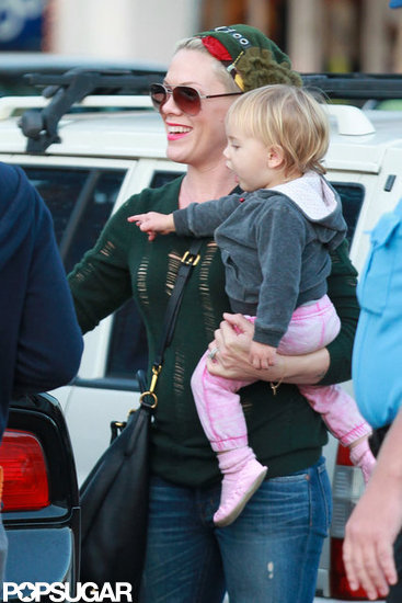 Pink gave Willow Hart a lift.