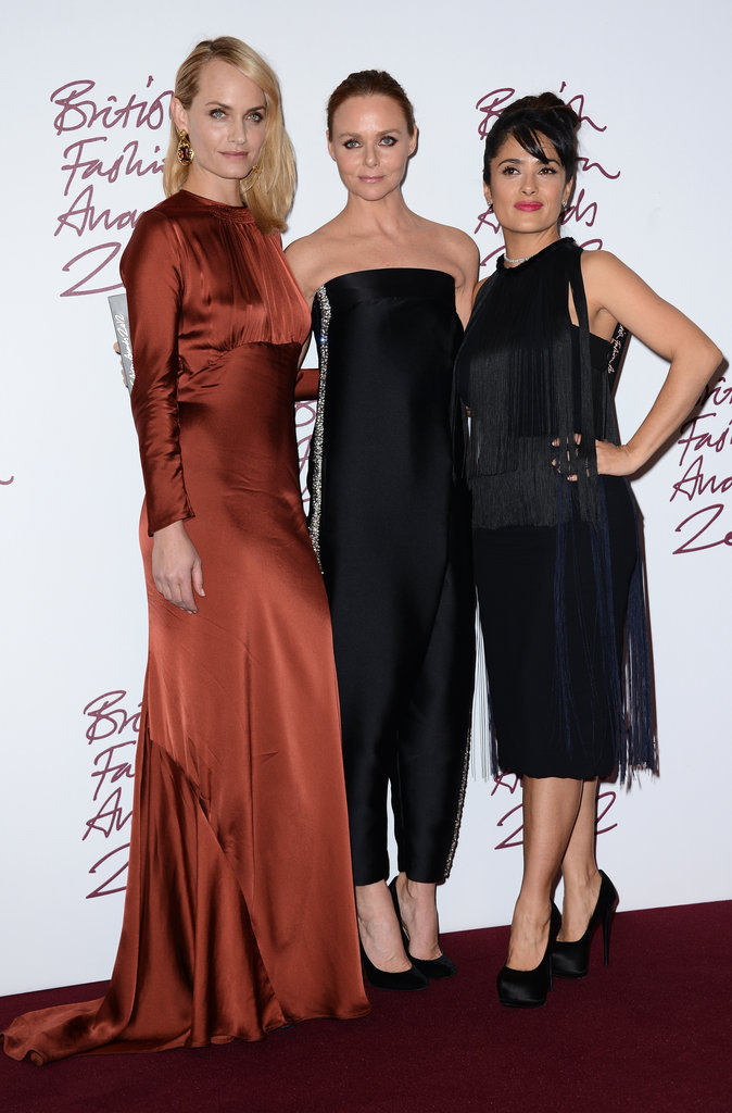 Amber Valletta, Stella McCartney and Salma Hayek
