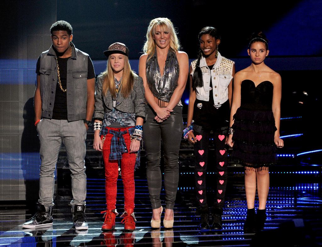 Britney Spears stood onstage to introduce her X-Factor contestants during a live taping of the show in November 2012.
