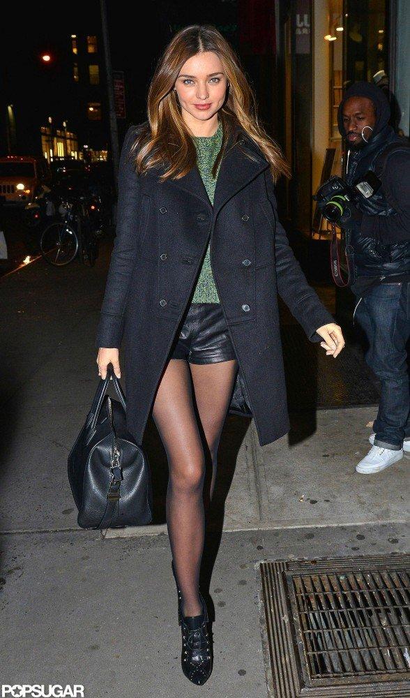Miranda Kerr strolled in the city.
