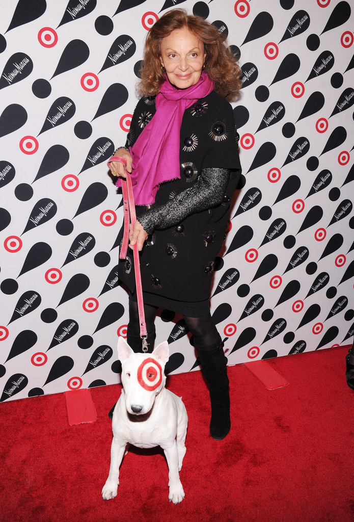 Diane von Furstenberg hung out with a Target dog on the red carpet.