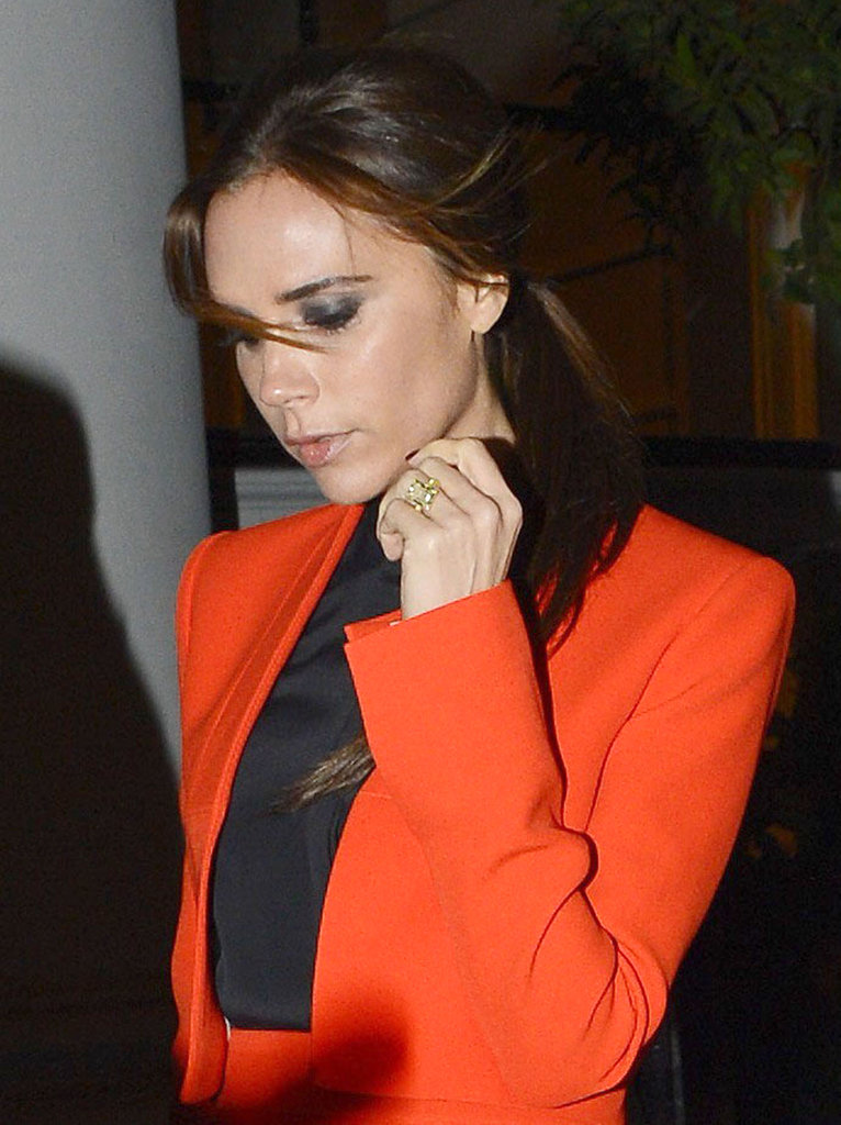 Victoria Beckham stepped out for the launch of a new Valentino exhibit in London.