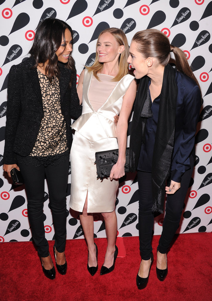 Kate Bosworth had a laugh between Zoe Saldana and Allison Williams.