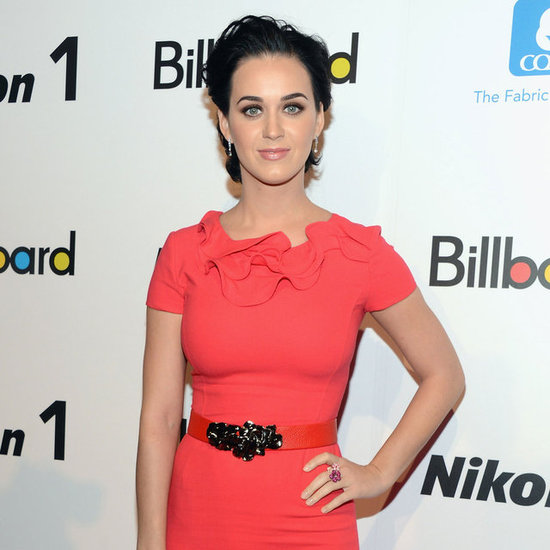 Katy Perry in Red Dress at Billboard Women in Music Lunch