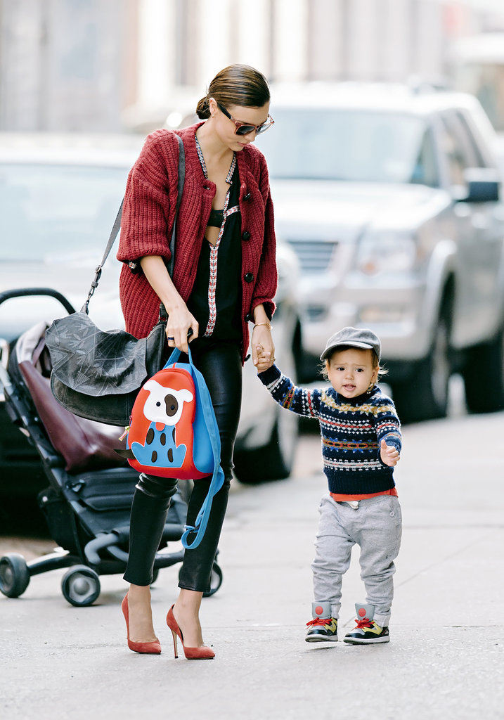 Miranda Kerr was on mum-duty as she and son Flynn strolled around New York City on November 24.