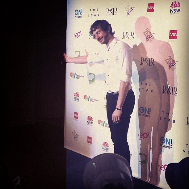 Gotye was in high spirits in the media room at the ARIAs — not surprising, considering he scooped up four awards!