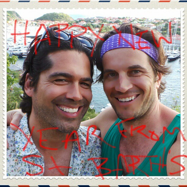 Designer Brian Atwood and his boyfriend Jake Deutsch spent the holiday in St. Barts.  Source: Instagram user brian_atwood