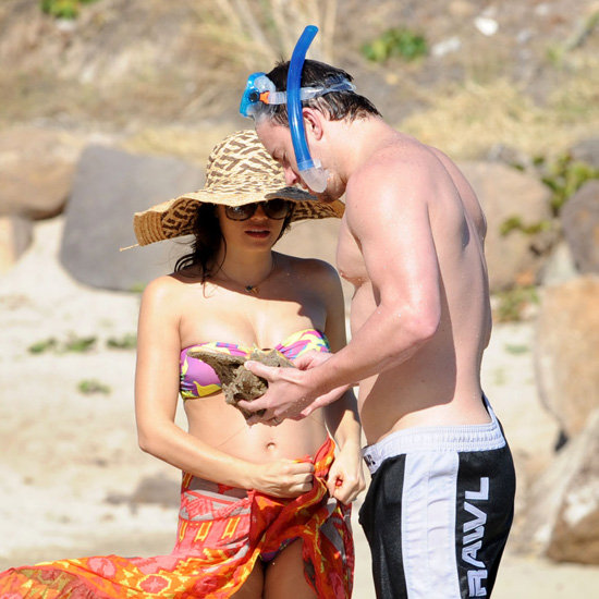 Pregnant Jenna Dewan in Bikini and Shirtless Channing Tatum