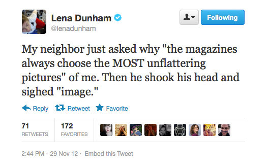 We're not sure how Lena Dunham would've responded to that one.