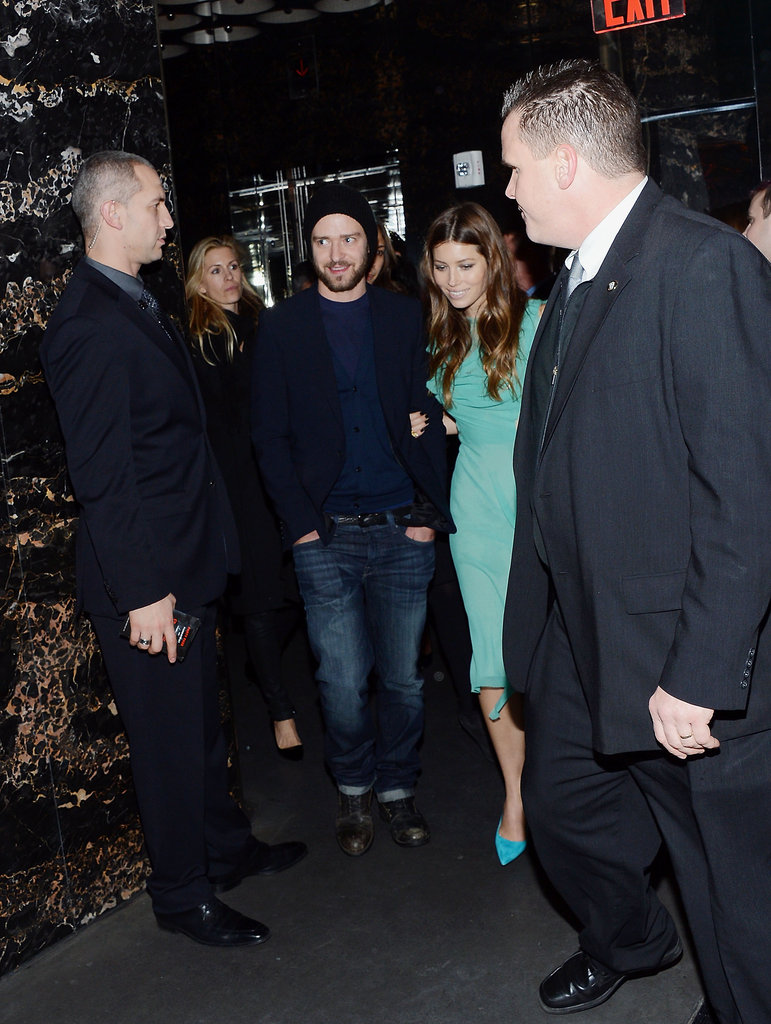 Justin Timberlake supported his new wife Jessica Biel in New York on December 5, at the after-party for her new film Playing For Keeps.
