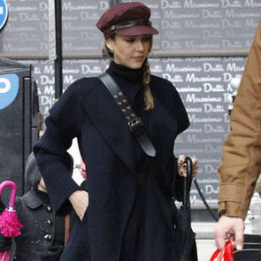 Jessica Alba Wearing Fisherman Hat