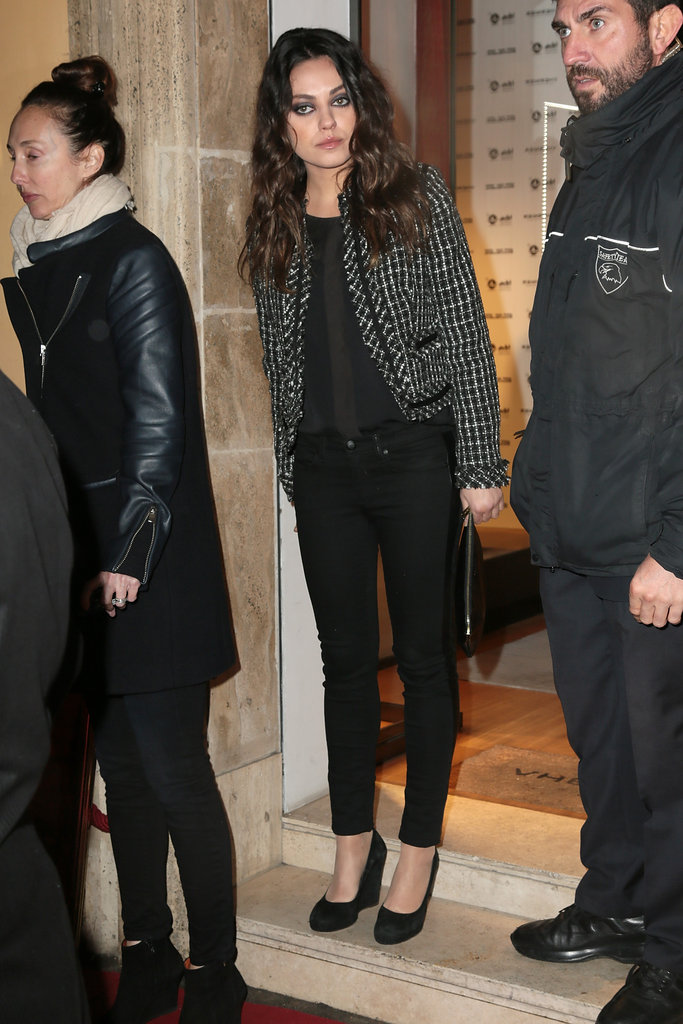 Mila Kunis showed her support in style.