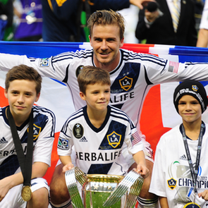 David Beckham Wins Final Galaxy Game (Video)