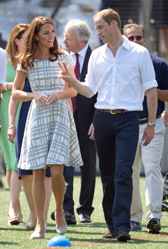 The Duke and Duchess of Cambridge Kate Middleton and William visited Bacon's College in July 2012.