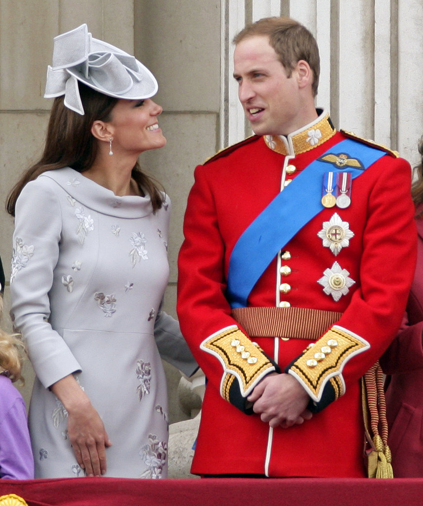 Kate Middleton and Prince William got formal for the June 2012 trooping the color ceremony in London.