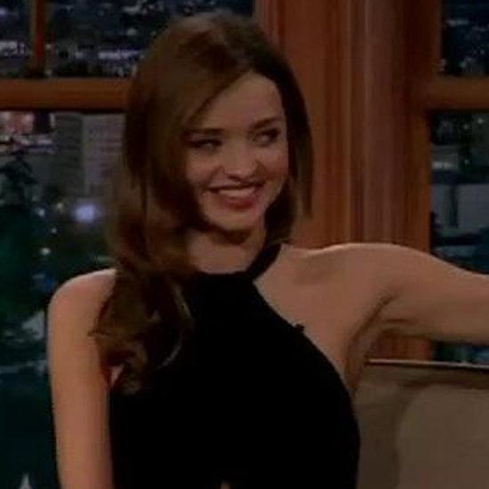 Miranda Kerr on The Late Late Show With Craig Ferguson