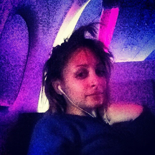 Nicole Richie was flying high . . . and so were her bangs. Source: Instagram user nicolerichie