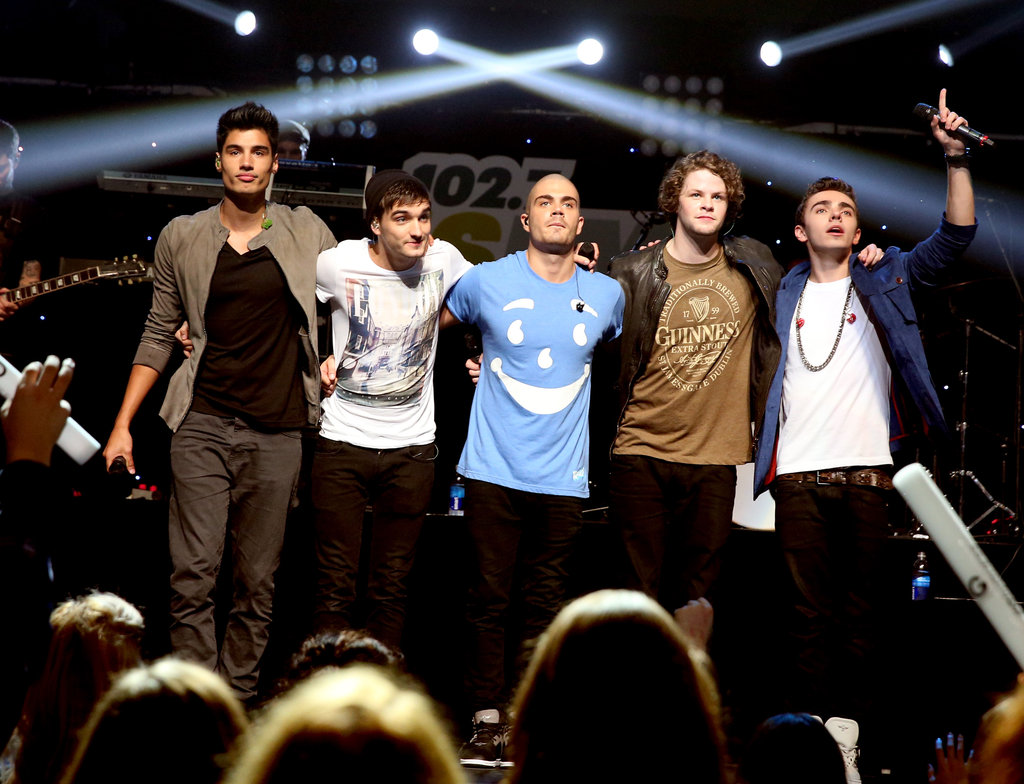 The Wanted put on a show for the audience.