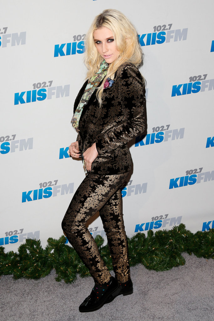 Ke$ha posed backstage at Jingle Ball.