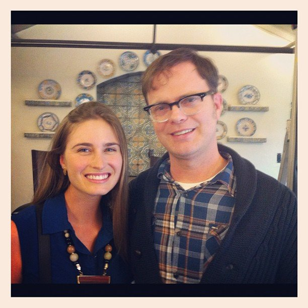 Rainn Wilson attended a FEED charity event with Lauren Bush Lauren. Source: Instagram user rainnwilson