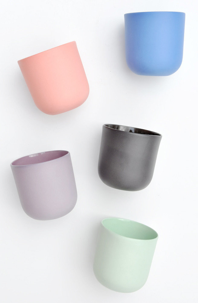 Matte Porcelain Tea Cups