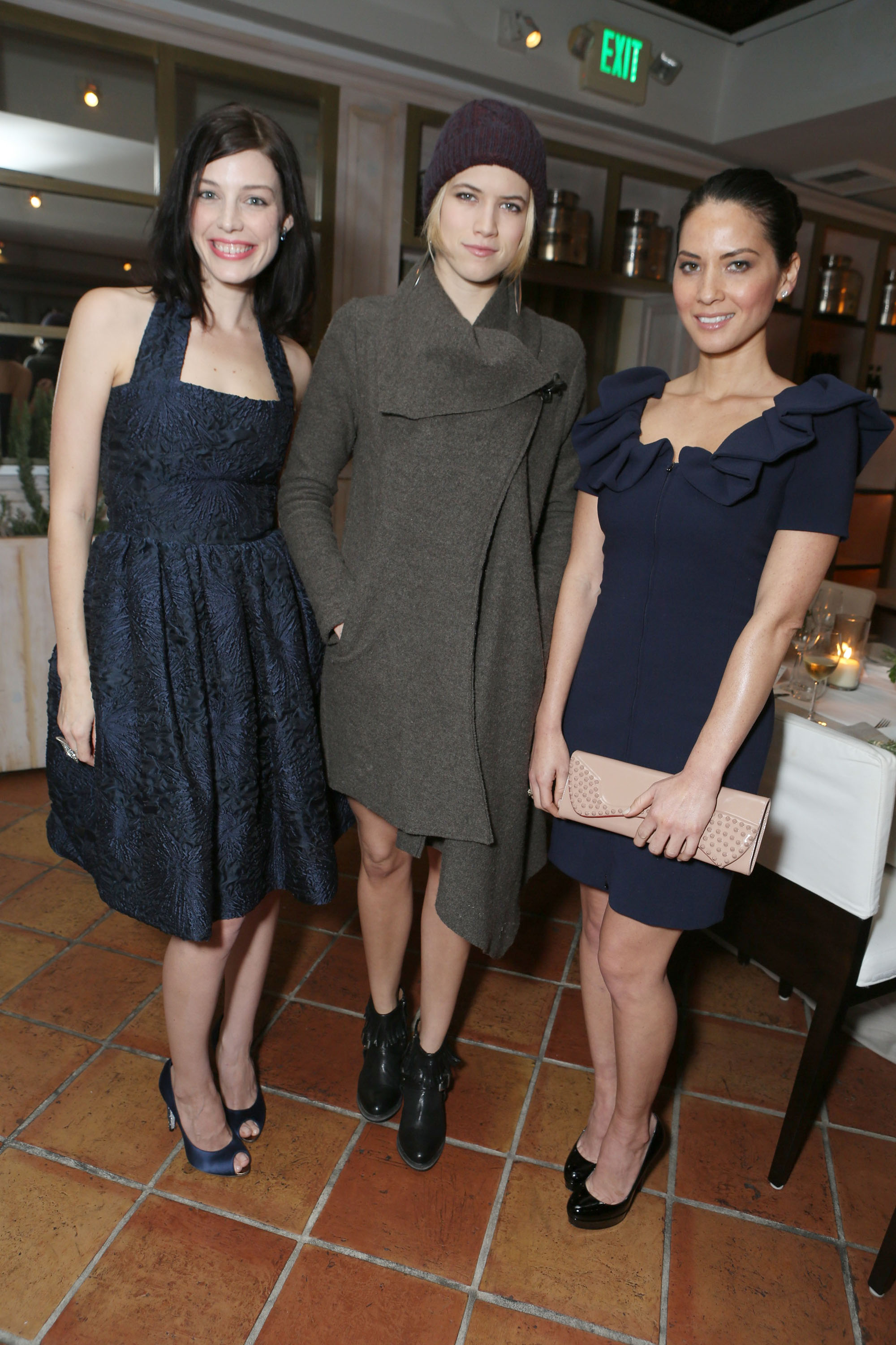 Jessica Pare, Cody Horn and Olivia Munn smiled at the Marie Claire Hollywood Dinner in LA.