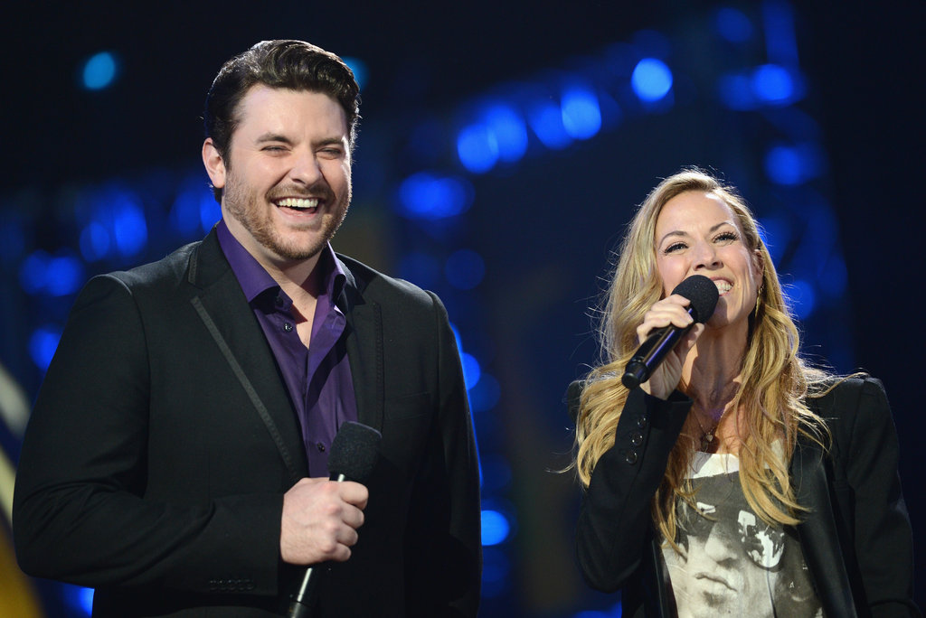 Chris Young laughed with Sheryl Crow at the Nashville show.
