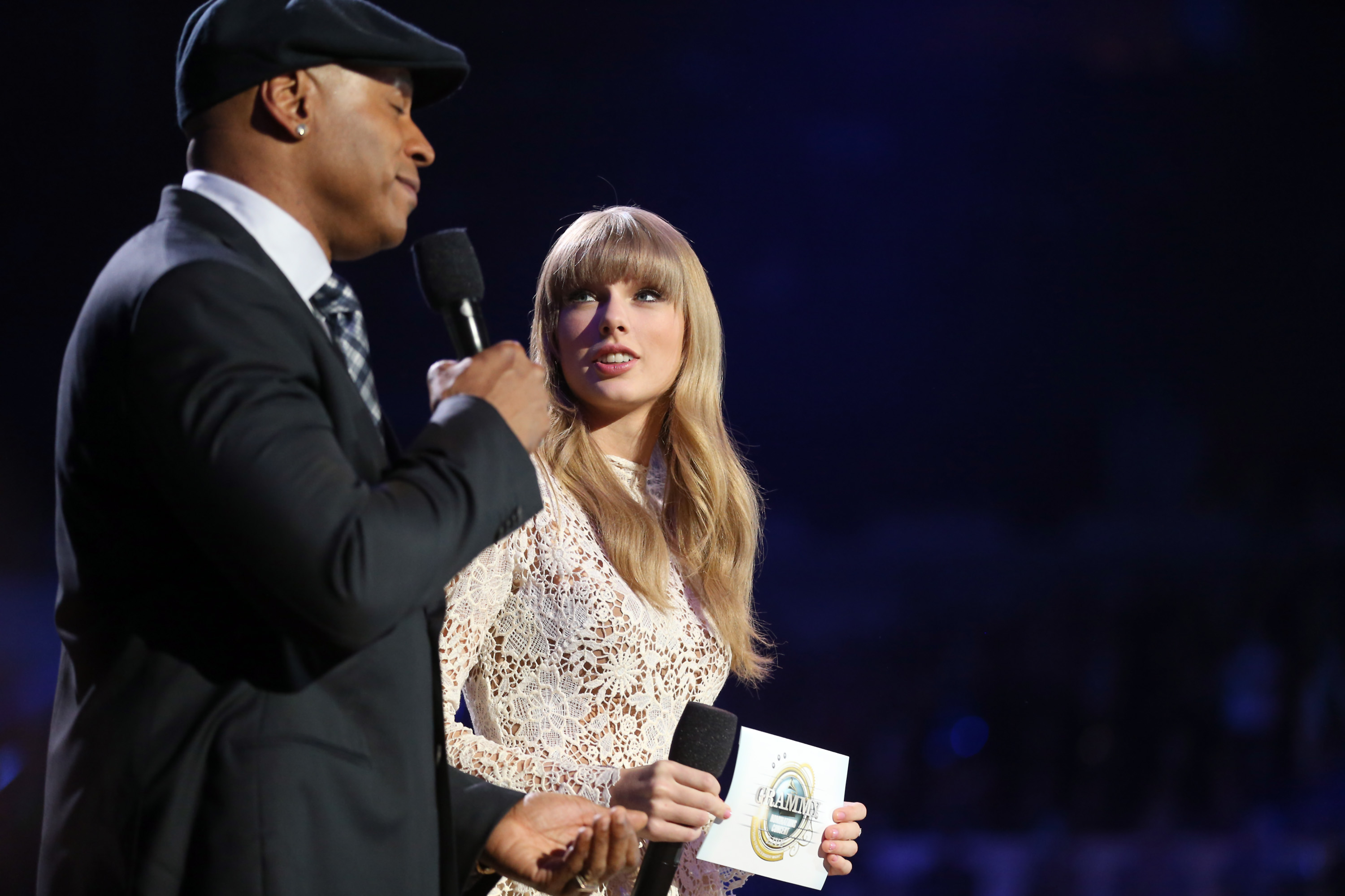 Taylor Swift was on stage with LL Cool J in Nashville.