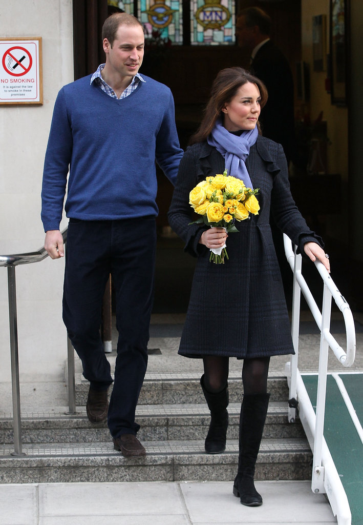 Kate Middleton and Prince William left a London hospital together.