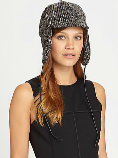 Who said trapper hats have to have fur? This Eugenia Kim bouclé trapper hat ($65) is just as chic. Sport it with your trendy high-top sneakers for a cool-girl play on casualwear.